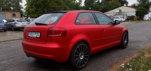 Audi A3 Flexchrome Inferno red car wrapping autofoliazas