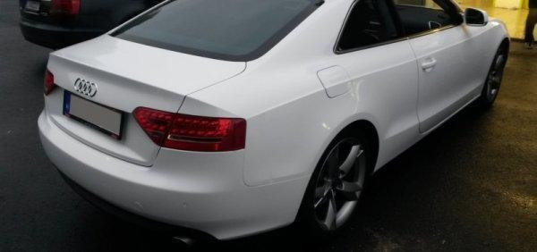 Audi A5 Gloss white wrapping