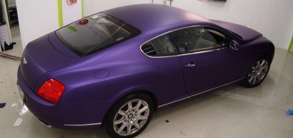 Bentley Continental GT Matt metallic purple wrapping Avery matt metál lila autófóliázás