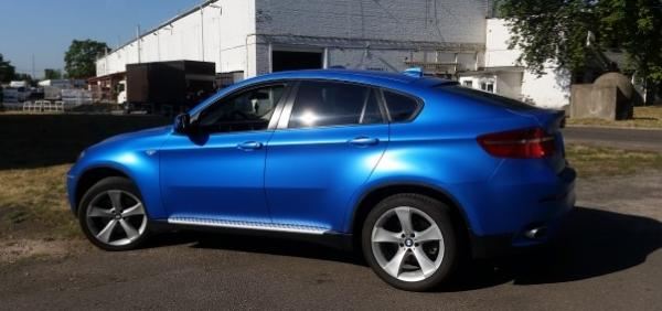 Bmw X6 3M 1080 satin perfect blue car wrapping autófóliázás