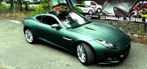 Jaguar F-Type Matte Pine Green Metallic 3M Wrap Matt fenyő zöld