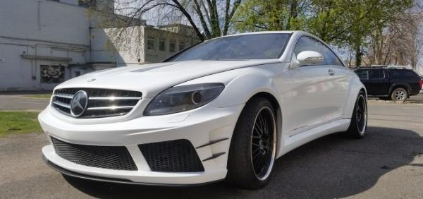 Mercedes AMG teljes autófóliázás 3M Gloss white gold sparkle car wrap wrapping folierunge Bégé Design