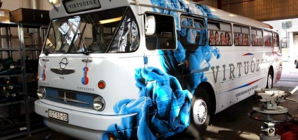 Virtuozok busz dekor bus design wrap