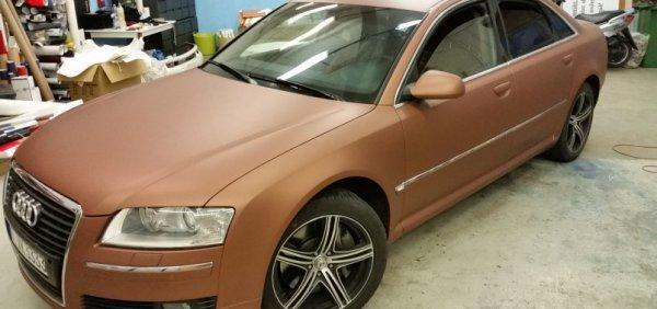 Audi A8 Avery Brown matte metallic wrapping barna matt metál autófóliázás