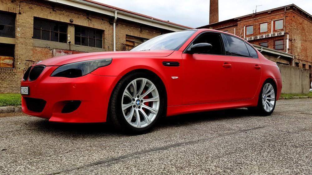 Bmw M5 Flexchrome Inferno Red Car Wrap Wrapping Autofoliazas Matrica Folierung Folfanatic.com 10