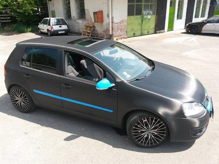 Volkswagen Golf Gt Full Carbon 3m 1080 Light Blue Biotech Car Wrap Wrapping Autofoliazas Matrica Folierung Folfanatic.com 06